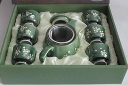 Wholesale Japanese Painting Set - Snowflakes hand-painted ceramic teapot tea tea Japanese and wind Korean tea pot and tea sets, a pot of 6 cups)