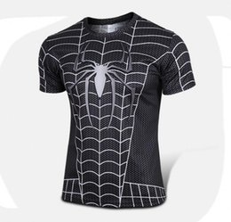 Wholesale Girly Shirts - s-4xl High quality new 2016 Men superhero Batman Jersey shirt sports quick dry fitness compression drying T shirt 3D girly men