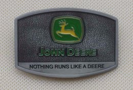 Wholesale Sliver Letters - Sliver color John deere Nothing runs like a deere BELT BUCKLE SW-1002,Free shipping