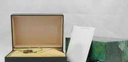 Wholesale Rectangle Wood Box - classic Green box for rolex watches booklet card tags in english