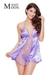 Wholesale Women Baby Doll Pajamas - MOONIGHT Sexy Lingerie Hot Ladies Sexy Sleepwear Sexy Underwear Dress + G-String Intimate Baby Doll Pajamas For Women