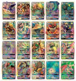 Wholesale Pc Mega - 2017 New Hot poke 60 Pcs Set GX Mega Shine English XY 25GX cards+ 35 Mega Ex cards GX Cards No repeat Kids Toys