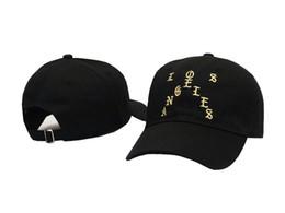 Wholesale cap city hats - rare White Pablo tour city merch Los Angeles tour Houston tour CAP HAT LIFE OF SAINT PABLO BLACK WHITE TLOP drake cap casquette