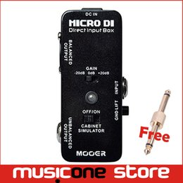 Wholesale Mooer Micro Pedal - Mooer Micro DI Direct Input Box Guitar Effect Pedal with Ultra Low Distortion Quietly Transfers MU0734