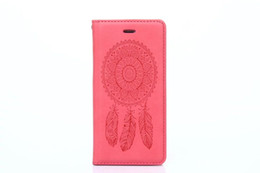 Wholesale Iphone Dream - Magnetic Dream Ring Feather Wallet Leather Pouch For Iphone X 8 I8 7 I7 7plus Iphone8 6 6S Plus 5 5S SE Galaxy S7 Edge S5 Card Phone Cover