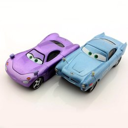 Wholesale Diecast Toy 64 - 2pcs set kids mini pixar cute cars 2 toys cartoon race agent holly shiftwell M6 agent Finn McMissile diecast models toys collectible