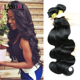 Wholesale Brazilian Wavy Hair Unprocessed - Brazilian Virgin Hair Body Wave 100% Human Hair Weave Bundles Unprocessed Peruvian Malaysian Indian Remy Wavy Hair Extensions 3 4 Pcs lot