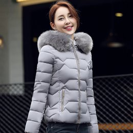 Wholesale Cheap Big Coats - Women Down Cotton Parkas Big Girls Winter Jacket Warm Outwear Coat Fur Hoodies Thickening Overcoat Tops High Quality Cheap Clothes