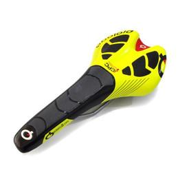 Желтое велосипедное седло онлайн-Prologo седло комфорт MTB дорога Велоспорт подушки сиденья велосипед седло сиденья велосипед аксессуары белый черный желтый цвет