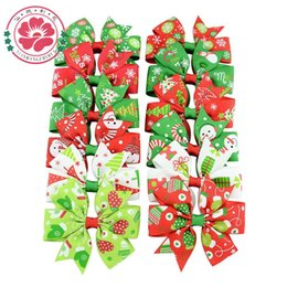 Wholesale Free Stocking Clips - Kids Hair Clips Christmas Hair Accessories for Girls Infant Hairpin 12 Colors free shipping in stock
