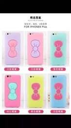 Wholesale Iphone Cases Bows - For iPhone 6   6S   6 plus 3D Bow Silicone Case iPhone waterproof drop resistance silicone phone case