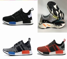 Wholesale Mens Casual Shoes Black Brown - NMD R1 Casual Men Shoes Kanye West Boost Wave Runner 700 Boost Mens Women boost 700 Sports Running Sneakers Shoes
