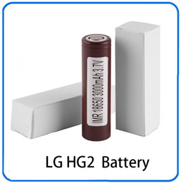 Wholesale Ecigs Batteries - 100% High Quality 18650 Battery HG2 3000mAh 30A Rechargable Lithium Batteries for LG Cells Fit Ecigs Vaporizer Vape box mod 0269006-1