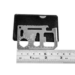 11 en 1 Multi herramientas de caza que acampan supervivencia cuchillo de bolsillo cuchillo de la tarjeta de acero inoxidable al aire libre engranaje EDC herramientas 2504009 desde fabricantes