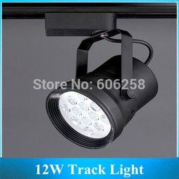 Wholesale Showcase Tracking Light - Wholesale-12W LED Track Light , Showcase Lamp   Iron Case Commercial Lighting ,12*1w LED Track Spotlight 10PCS