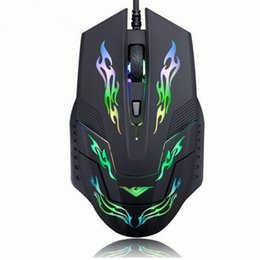 Wholesale Hot I5 - Newest Hot Sale Gaming Mouse Optical USB Wired Mice For PC Laptop MAC I5 Optical Mouse USB Cable Shine Mouse Gaming Wholesales