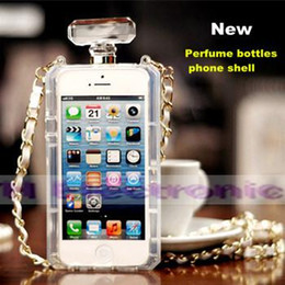 Wholesale Iphone 4s Case Handbag - (Clear stock)2015 The Perfume bottle design TPU phone case for Apple iphone 5 5S  4 4S, Samsung S5 S4 note3 phone shell
