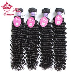 "Queen Hair Malaysian Virgin Deep Wave Curly Hair 100% Virgin Human Hair 8""-30"" 100g pc 4PCS LOT Coupons"