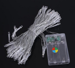 Wholesale Diy Christmas Tree Decorations - 10M 80leds LED String Light 3XAA Battery Operated Portable Light Fairy Lights Christmas New Year Wedding Decoration Lights