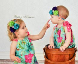 Wholesale Felt Hair Bands - baby girl felt headband infant toddler newborn girls head band flowers hairbands 12 colors avaailable !20pcs