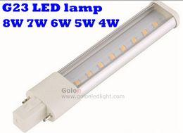 Wholesale G23 6w - pls lamp 11w 2700k g23 13w 6500k gx23 LED replacement 120V 230V 240V 8W 7W 6W 5W 4W 2G7 2GX7 g23 led bulb