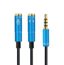 усилитель громкоговорителей для компьютера Скидка Высокое качество последние 2 в 1 3.5 мм аудио разъем для наушников и микрофона стерео кабель мужчина к женщине аудио Splitter адаптер разъем