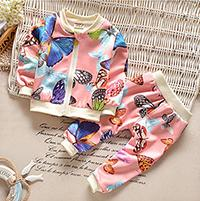 Wholesale Boys Dress Clothes 24 Months - 2016 New Fall Winter Kids Sets infant Toddler Butterfly suit 2pcs top+trousers boys girls outfit long sleeve baby clothes children Dress