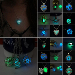Wholesale Steampunk Lockets - New Fashion Steampunk Pretty Magic Fairy Locket Necklace Glow In The Dark Necklaces & Pendants Accessories For Women