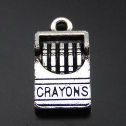 Fazer a caixa do cigarro on-line-20 PCS Antique Silver Alloy Cigarette Box Pingente Encantos Jóias Encontrar 16 * 9mm 39988 fazer jóias