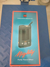 Wholesale Personal Vaporizer - MIGHTY Handheld Personal Dry Herb Vaporizer Mighty Mod WIth Temperatuer adjustable Mighty vaporizer Box Mod Big Vaporizer