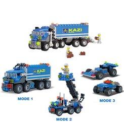 Wholesale Kazi Educational Toys - 2017 New 163PCS KAZI 6409 Truck Building Blocks Compatible With Citys Car Brick Educational Toys For Kids Birthday Gift Brinquedo
