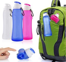 Portable Pliable Pliable réutilisable Bouteille D'eau En Plastique Sac De Sport En Plein Air Voyage À Vélo Camping Garanti sans BPA 001 # ? partir de fabricateur