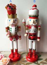Wholesale Nutcracker Puppet - Nutcracker soldiers Christmas home decoration woodcraft puppet toy gift for children