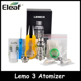 Wholesale Pre Filled - 100% Original Eleaf Lemo III Atomizer 4.0ml Lemo 3 Top Filling RTA Tank with Pre-made Self-built Coil Smooth Airflow Better Vaping Flavor