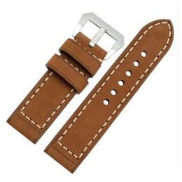 Полосы для пей-часов онлайн-Коричневый Crazy Horse натуральная кожа часы ремешок браслет 20 мм 22 мм 24 мм 26 мм для PAM для различных часы + инструменты
