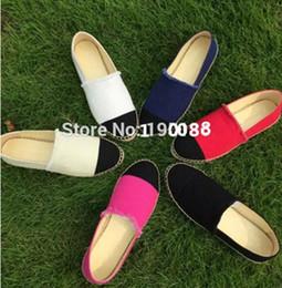 Wholesale Thick Rubber Soles - Top Design Canvas Denim Classic Genuine Leather Thick Sole Espadrilles Women's Shoes 6 colors size 35-42