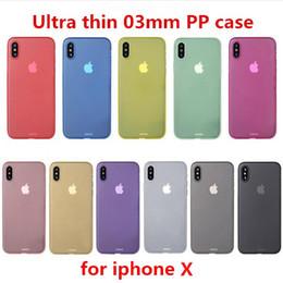 Frosted handy-abdeckungen online-0,3 mm ultradünne dünne matte mattierte pp case transparent flexible handy fällen abdeckung für iphone x xs max xr 8 7 6 plus