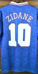 Wholesale Zidane France - Retro jerseys 1996 European Cup France Home Blue #10 Zidane jersey shirt