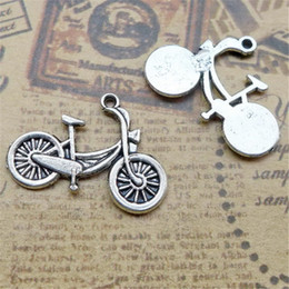Wholesale Charms For Bracelets Bike - Come on Guys 64pcs bicycle bike Charms Pandora Antique Silver Alloy Jewelry Fit For Bracelet Pendant Necklace Man&Woman 26*18mm