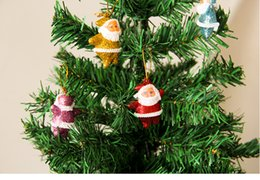 Wholesale Christmas Decorations Cheap Prices - 12pcs lot 12 Patterns Christmas Decoration For Home New Year 2016 Cute Christmas Decoration Cheap Price Ornament Supplies Free Shipping