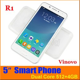 Wholesale Cheapest Android Mobile Phones - Cheapest 5 Inch Vinovo R1 Dual Core Android 4.4 3G WCDMA Smart Phone Dual Sim MTK6572 4GB 512M Wifi GPS 854*480 Unlocked gesture mobile 50