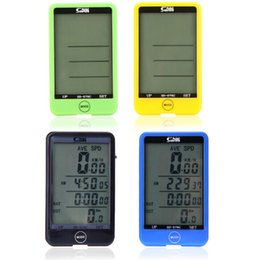 Wholesale bicycle computer speedometer - Backlight Wireless Touch Button LCD Bicycle Speedometer Odometer Waterproof Bike Computer free shipping