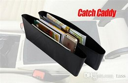 Wholesale Drop Seats - Free Shipping 100Pcs lot (1set=2pcs) Catch Caddy Car Organizer Drop Stop Create Car Seat Storage PP Bag Save Space