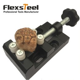 Wholesale Stripper Clips - Flexsteel Super Mini Walnut Vise Clamp Table Bench Vice for Jewelry Nuclear Clip On DIY Carving Tool Banco de Trabajo