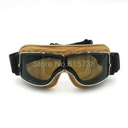 Wholesale Vintage Dustproof - motorcycle goggles vintage Outdoor Sport Windproof Glasses Cross country Goggles Dustproof