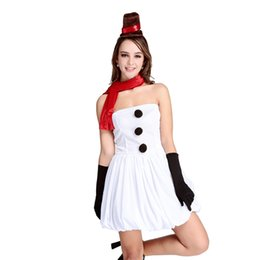 Wholesale Santa Dress Adult - Wholesale-2016 Snow Woman Santa Claus Xmas Adult Women Party Dress Sexy Cosplay Christmas Lingerie Dress Hat+Gloves L70940