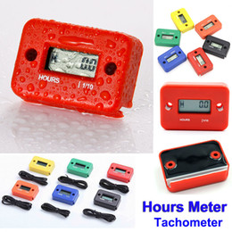 Wholesale Gasoline Engine Hour Meter - Digital Hour Meter Gauge LCD for Gasoline Engine Racing Motorcycle ATV Mower Snowmobile motorbike Tachometer Waterproof Hours Meter