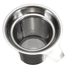 Wholesale Tea Cups Strainer - 304 Stainless Steel Mesh Cup Reusable Strainer Herbal Locking Tea Filter Infuser Spice 7.5x8.8cm free shipping HY801
