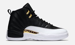 Wholesale Pink Thread - Basketball Shoes 12 Retro Wings Retro 12s 2016 the Master Sports Sneakers retros XII OVO Colorway:black metallic gold-white Men Athletics