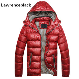 Wholesale Fitness Coat Winter - Wholesale- Men's Winter Jacket Padded Hooded Slim Fitness Quilted Parka Thick Warm Parka Men New Coats Zipper Cotton Coat Male 113